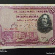 Banconote spagnole: 50 PESETAS.DE 1928....SERIE DE... .MUY BONITO......ES EL DE LAS FOTOS. Lote 268569324