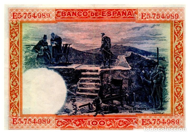 Billetes españoles: BILLETE DE ESPAÑA DE 100 PESETAS DE 1925 CIRCULADO FELIPE II - Foto 2 - 268571714