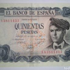 Billetes españoles: BILLETE EBC 500 PESETAS 1971 SERIE 1A. .. JACINTO VERDAGUER. Lote 268796494