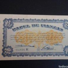 Billetes españoles: PAPEL DE FIANZAS. 5 PESETAS. 1940. PLANCHA.. Lote 268802344