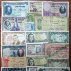 Banconote spagnole: 20 BILLETES DE ALFONSO XIII, 2ª REPUBLICA, GIJON, BILBAO Y DEL ESTADO ESPAÑOL. LOTE 1672. Lote 268803274