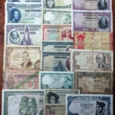 Banconote spagnole: 20 BILLETES DE ALFONSO XIII, 2ª REPUBLICA, GIJON, BILBAO Y DEL ESTADO ESPAÑOL. LOTE 1673. Lote 268803554