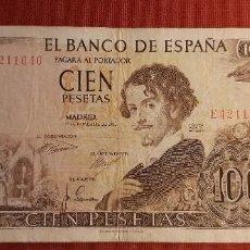 Banconote spagnole: ESTADO ESPAÑOL. 100 PESETAS 19 DE NOVIEMBRE 1965. SERIE E.. Lote 268891819