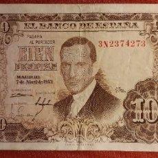 Banconote spagnole: ESTADO ESPAÑOL. 100 PESETAS 7 DE ABRIL 1953. SERIE 3N.. Lote 268891974