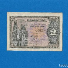 Billetes españoles: 2 PESETAS 1938 SERIE-F SC. Lote 268952989