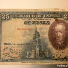 Billetes españoles: BILLETE 25 PESETAS 1928. Lote 269175848