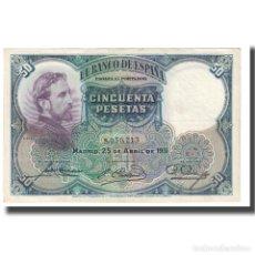 Billetes españoles: [#611708] BILLETE, 50 PESETAS, 1931, ESPAÑA, 1931-04-25, KM:82, MBC. Lote 269179273