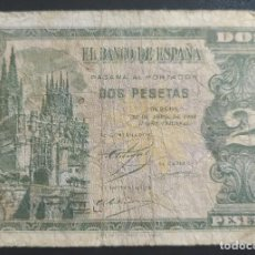 Banconote spagnole: 2 PESETAS 1938 BURGOS SERIE L (BC). Lote 269281318