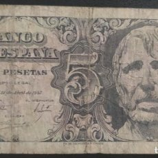 Banconote spagnole: 5 PESETAS 1947 (SERIE A) BC. Lote 269301953