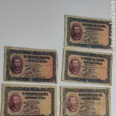 Billetes españoles: LOTE DE 8 BILLETES DE 25 PESETAS 1926 5 SIN SERIE 2 SERIE B Y 1 SERIE A ORIGINALES VER FOTOS. Lote 269374893