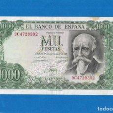 Billetes españoles: 1000 PESETAS DE 1971 !OJO! SERIE-9C RARA EBC+. Lote 269388123