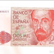Banconote spagnole: BILLETE DE 2.000 PESETAS DE JUAN CARLOS I DE 1980. SIN SERIE. SIN CIRCULAR- (R12). Lote 269693123