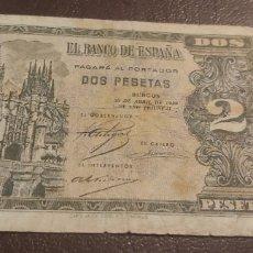 Billetes españoles: BILLETE DE 2 PESETAS DE 1938...ESTADO ESPAÑOL BURGOS. Lote 269771243