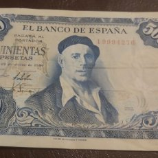 Billetes españoles: BILLETE ESPAÑA - IGNACIO ZULOAGA - 500 PESETAS - 22 JULIO 1954 - SERIE I. Lote 269772198