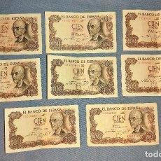 Billetes españoles: 8 BILLETES DE CIEN 100 PESETAS MANUEL DE FALLA AÑO 1970 ORIGINALES. Lote 269801998