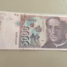 Billetes españoles: BILLETE 5000 PTAS AÑO 1992 SC-. Lote 269843788