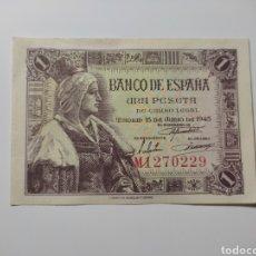 Billetes españoles: BILLETE 1 PESETA ISABEL II 1945. Lote 269844683