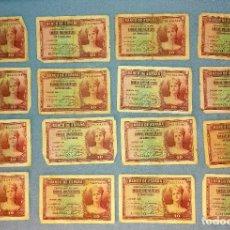 Billetes españoles: 16 BILLETES DE 10 PESETAS AÑO 1935 ORIGINALES. Lote 269953968