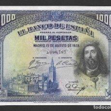 Billetes españoles: 1000 PESETAS 1928 SIN SERIE S/C. Lote 268942484