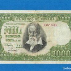 Billetes españoles: 1000 PTS DE 1951 SERIE-C MBC++. Lote 270228063