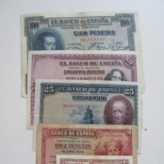 Billetes españoles: LOTE DE 5 BILLETES ESPAÑOLES. Lote 270394178