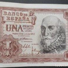 Notas espanholas: 1 PESETA 1953 (SERIE S) EBC. Lote 214199605