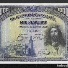 Billetes españoles: 1000 PESETAS 1928 SIN SERIE EBC+/S/C-. Lote 259993975