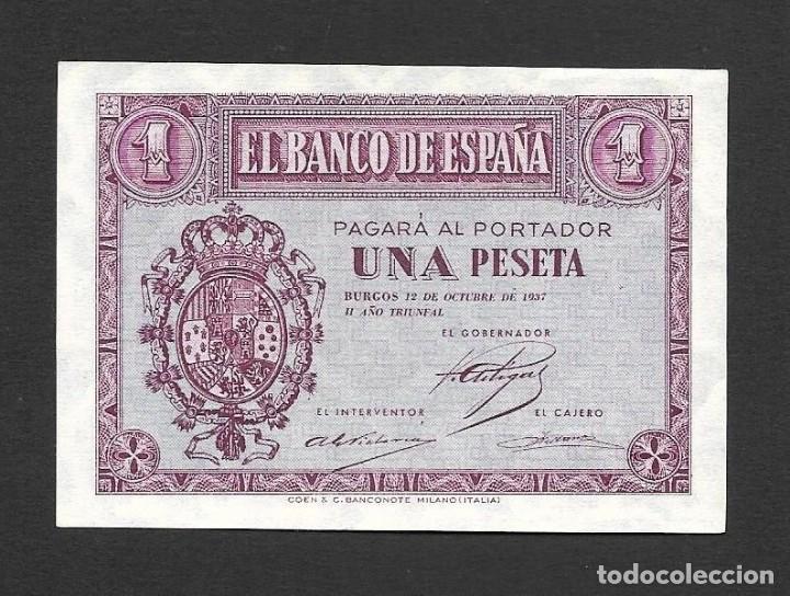 1 PESETA OCTUBRE 1937 S/C (Numismática - Notafilia - Billetes Españoles)