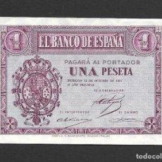 Billetes españoles: 1 PESETA OCTUBRE 1937 S/C. Lote 270905558