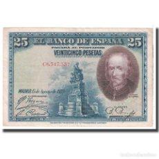 Billetes españoles: [#124828] BILLETE, 25 PESETAS, 1928, ESPAÑA, 1928-08-15, KM:74B, MBC. Lote 271471943