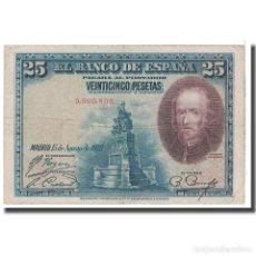 Billetes españoles: [#124829] BILLETE, 25 PESETAS, 1928, ESPAÑA, 1928-08-15, KM:74B, BC. Lote 271471998