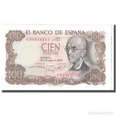 Billetes españoles: [#125498] BILLETE, 100 PESETAS, 1970, ESPAÑA, 1970-11-17, KM:152A, UNC. Lote 271472448