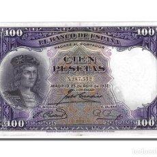 Billetes españoles: [#153817] BILLETE, 100 PESETAS, 1931, ESPAÑA, 1931-04-25, EBC. Lote 271473958