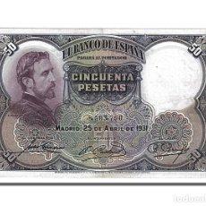Billetes españoles: [#153816] BILLETE, 50 PESETAS, 1931, ESPAÑA, 1931-04-25, MBC. Lote 271473963