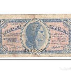 Billetes españoles: [#154930] BILLETE, 50 CENTIMOS, 1937, ESPAÑA, BC. Lote 271474208