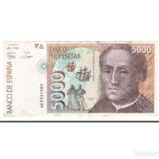 Billetes españoles: [#155896] BILLETE, 5000 PESETAS, 1992, ESPAÑA, 1992-10-12, EBC. Lote 271474558