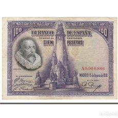 Billetes españoles: [#157821] BILLETE, 100 PESETAS, 1928, ESPAÑA, 1928-08-15, MBC. Lote 271475123