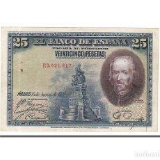 Billetes españoles: [#159371] BILLETE, 25 PESETAS, 1928, ESPAÑA, KM:74B, 1928-08-15, BC+. Lote 271475548