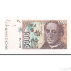 Billetes españoles: [#164034] BILLETE, 5000 PESETAS, ESPAÑA, KM:165, 1992-10-12, UNC. Lote 271478858