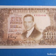 Billetes españoles: 100 PESETAS DE 1953 SERIE C-149. Lote 271711548