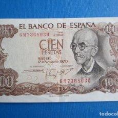 Billetes españoles: 100 PESETAS DE 1970 SERIE 6M-030. Lote 271714443