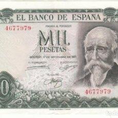 Billetes españoles: BILLETE: 1000 PESETAS 1971 - SIN SERIE/ MUY BUENA CONSERVACION. Lote 271859428