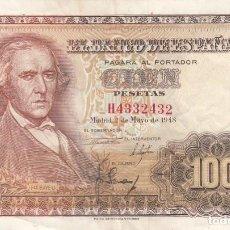 Billetes españoles: BILLETE: 100 PESETAS 1948 - SERIE H4332432 / MUY BUENA CONSERVACION. Lote 271867853