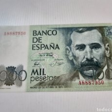 Billetes españoles: BILLETE DE 1000 PESETAS , OCTUBRE DE 1979, SERIE A, BC. Lote 272095983