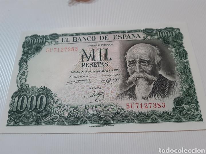 BILLETE DE 1000 PESETAS , MBC, SEPTIEMBRE DE 1971, SERIE U (Numismática - Notafilia - Billetes Españoles)