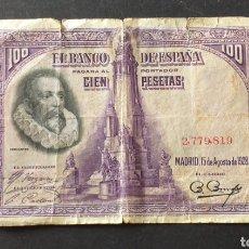Billetes españoles: BILLETE SIN SERIE DE 100 PESETAS ESPAÑA AÑO 1928. Lote 273277678