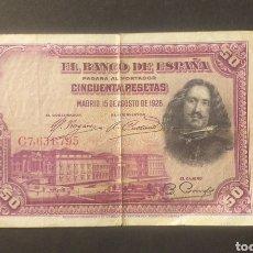 Billetes españoles: BILLETE DE 50 PESETA ESPAÑA AÑO 1928. Lote 273290058