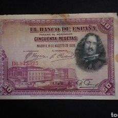 Billetes españoles: BILLETE DE 50 PESETAS ESPAÑA AÑO 1928. Lote 273536658