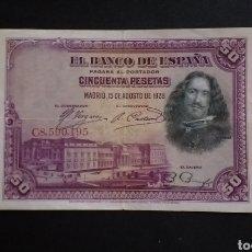 Billetes españoles: BILLETE DE 50 PESETAS ESPAÑA AÑO 1928. Lote 273536773