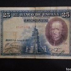 Billetes españoles: BILLETE DE 25 PESETAS ESPAÑA AÑO 1928. Lote 273538108